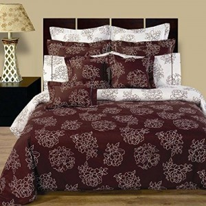 11PC-Queen-Size-Cloverdale-Reversible-Bedding-Set-Duvet-Cover-Set-Matching-Fitted-Sheet-and-decortive-shams-by-Royal-Hotel-0